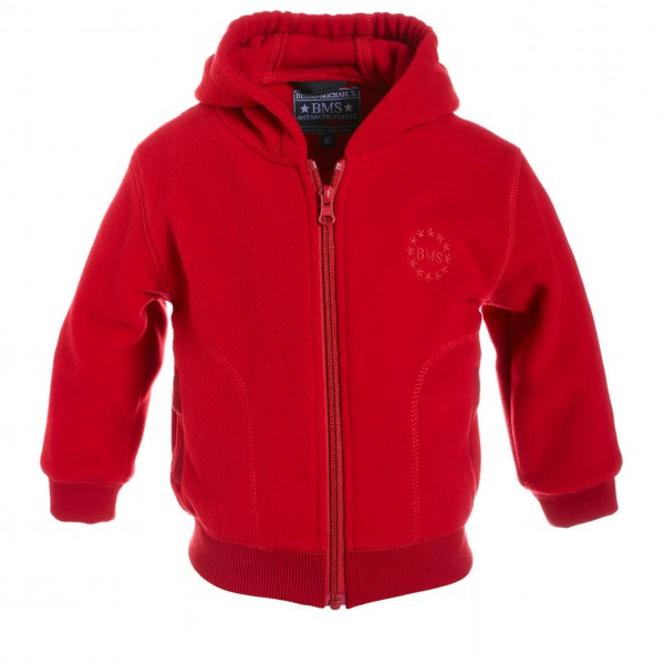 BMS - Collegejacke Kids Antarctic Clima-Fleece Fleecejacke Gr 116;122;128;134;140;152 rot;schwarz;schwarz/grau/weiß