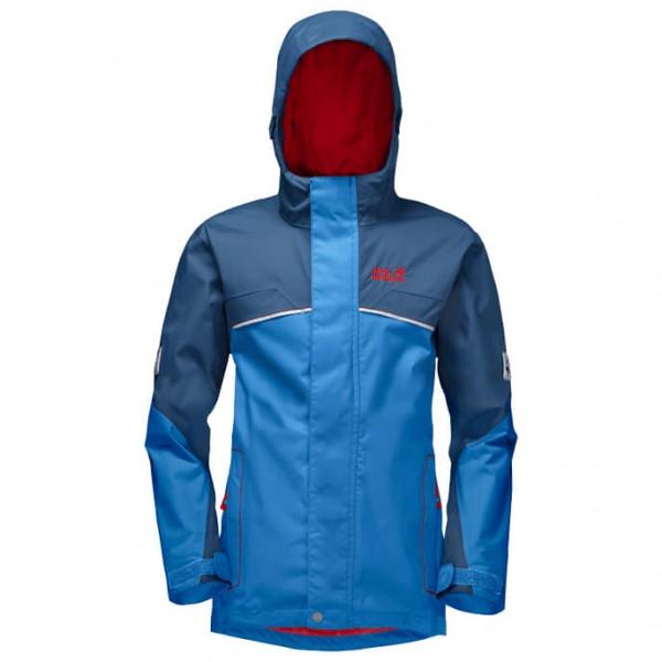 Jack Wolfskin Topaz Texapore Jacket Boy´s Hardshelljack maat 176 blauw