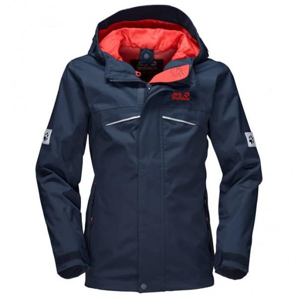 Jack Wolfskin Topaz Texapore Jacket Girl´s maat 104 zwart-blauw