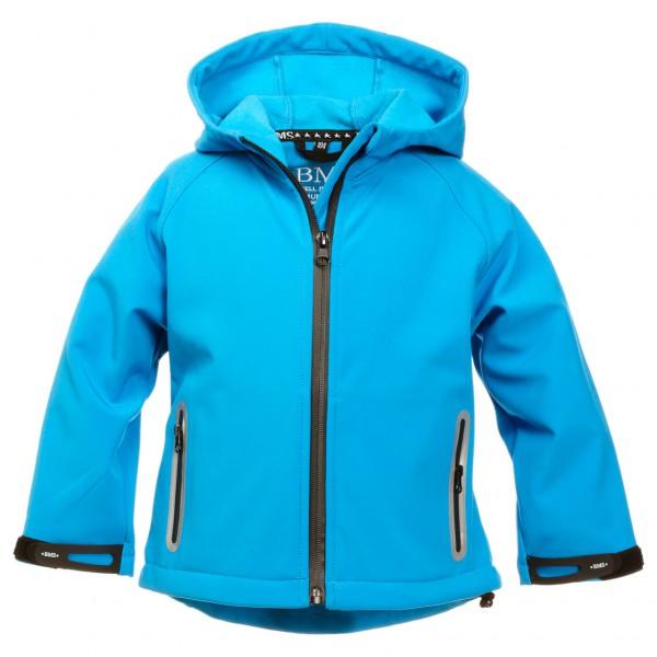 Werben Angebote BMS - Kinderjacke SoftShell Softshelljacke Gr 134 blau/türkis