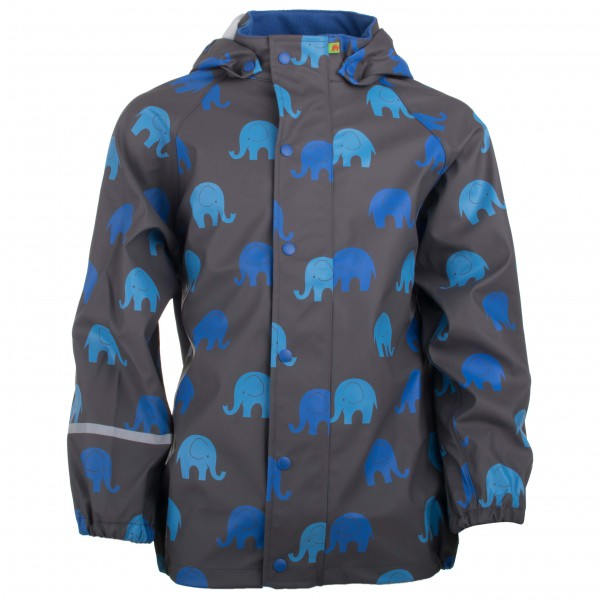 CeLaVi - Kid´s Rainwear Jacket PU with Elephant Gr 120 schwarz/blau Sale Angebote Welzow