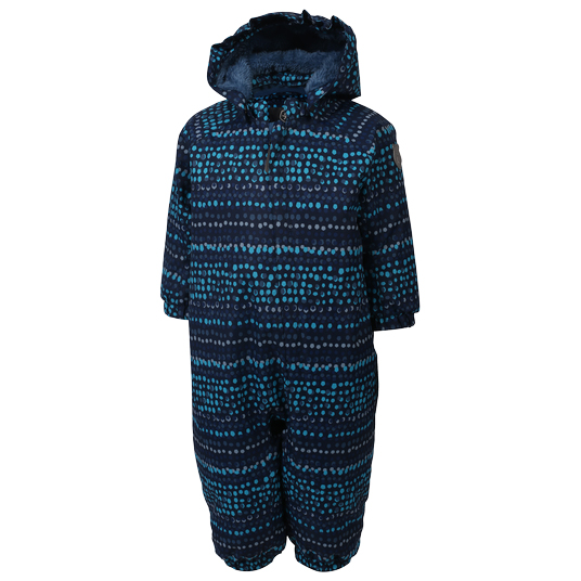 Color Kids - Kids Rimah Mini Padded Coverall Aop - Overall Size 80  Black/blue