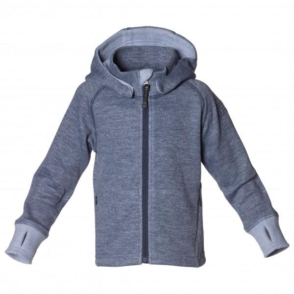 Isbjrn - Wooly Kids Hoodie - Wool Jacket Size 98/104  Grey/blue