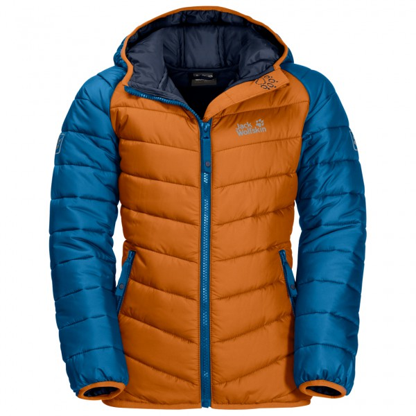 Jack Wolfskin Kid´s Zenon Jacket Synthetisch jack maat 176 blauw-bruin-oranje