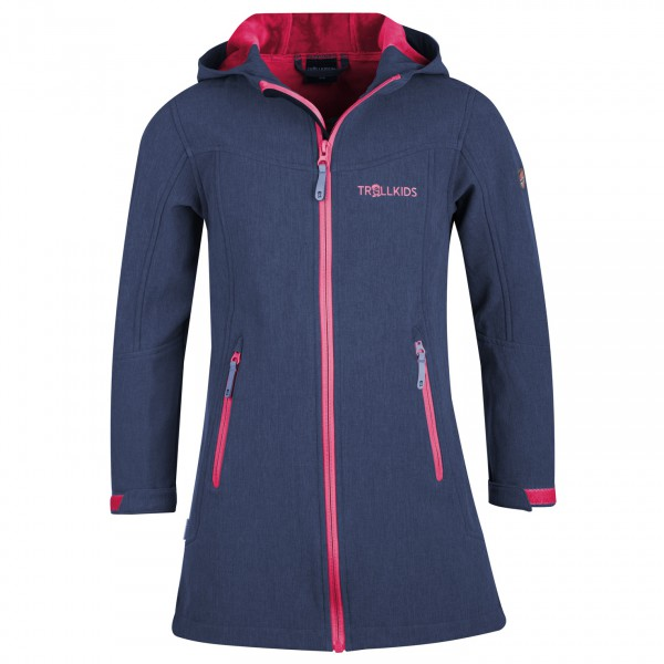 Trollkids - Girls Lillesand Coat - Softshell Jacket Size 110  Blue