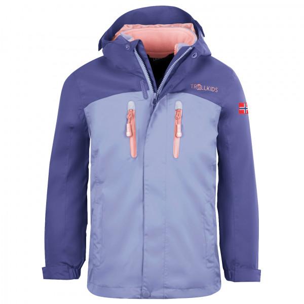 Trollkids - Girls Bryggen 3in1 Jacket - 3-in-1 Jacket Size 98  Grey/blue