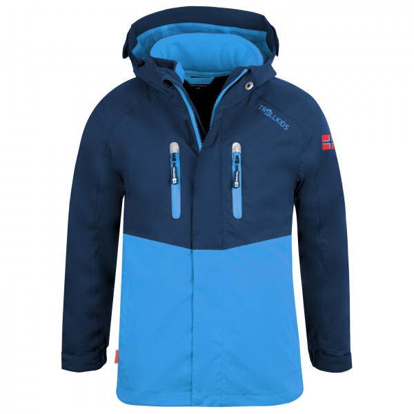 Trollkids - Kids Bryggen 3in1 Jacket - 3-in-1 Jacket Size 92  Blue