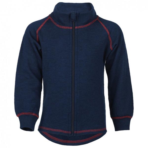 Engel - Kinder-Zip-Jacke Mit Kinnschutz - Wolljacke Gr 140 blau/schwarz 555502-33-140