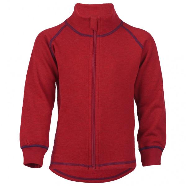 Engel - Kinder-Zip-Jacke Mit Kinnschutz - Wolljacke Gr 140 rot 555502-060-140