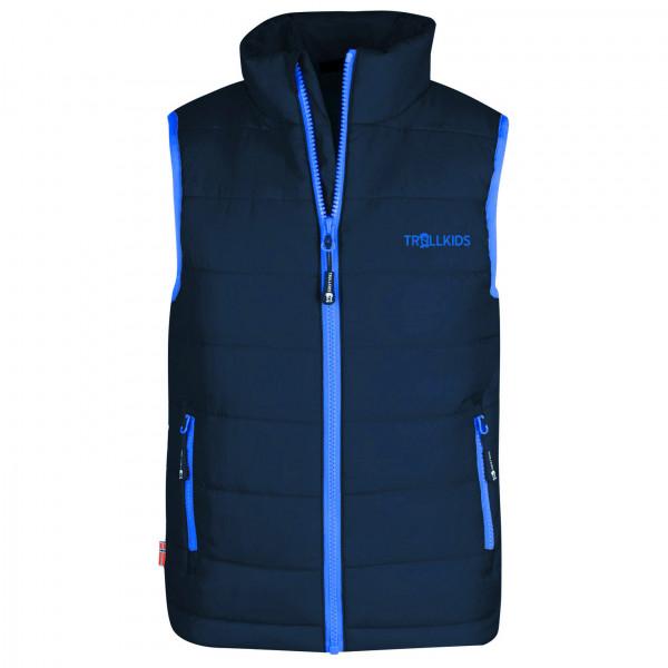 Trollkids - Kids Trondheim Vest - Synthetic Vest Size 110  Blue/black