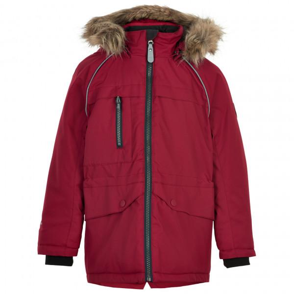 Color Kids - Kids Parka Fake Fur - Parka Size 116  Red
