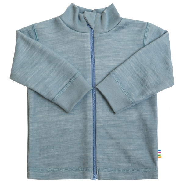 Joha - Kid's Cardigan Collar & Zipper Gr 100;110;120;80;90 beige;grau 18133