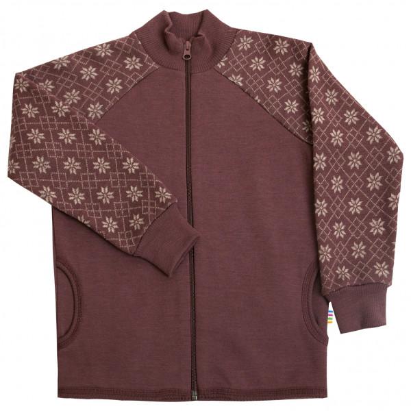Joha - Kid's Cardigan Zipper Gr 100;110;120;130;150;80;90 schwarz;rot/braun 18873