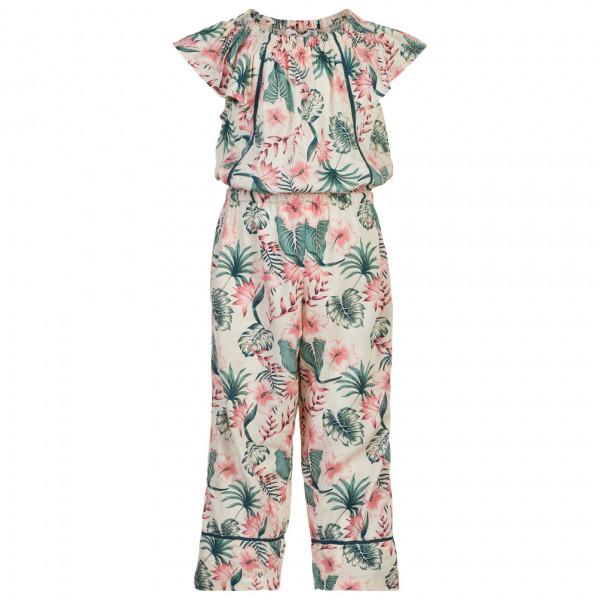 Minymo - Girl's Jumpsuit S/S All Over Print - Jumpsuit Gr 110;116;122;128;134;140 grau/beige 121441