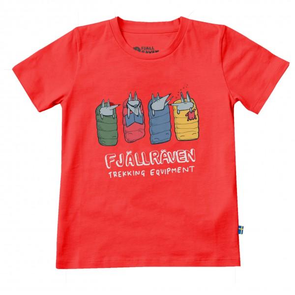 Fjällräven - Kids Sleeping Foxes T-Shirt Gr 152 rot Sale Angebote Neukieritzsch