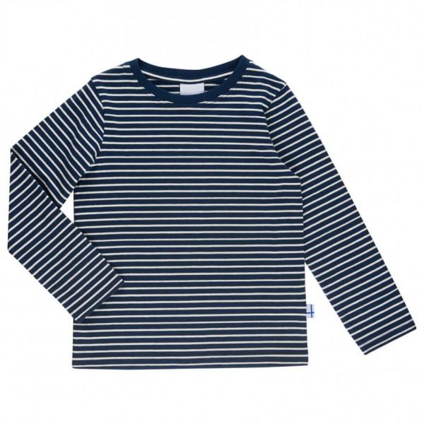 Finkid - Kid´s Sampo - Longsleeve Gr 130/140 grau/schwarz/blau
