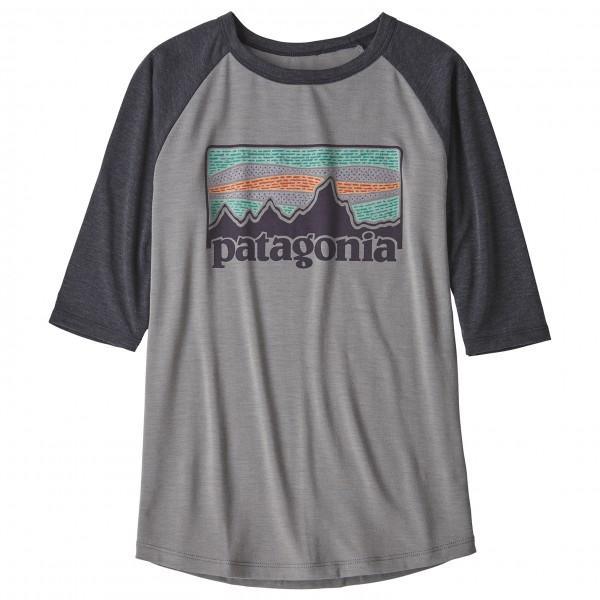 Patagonia - Boys' 1/2 Sleeve Graphic Tee - T-Shirt Gr XL grau/schwarz