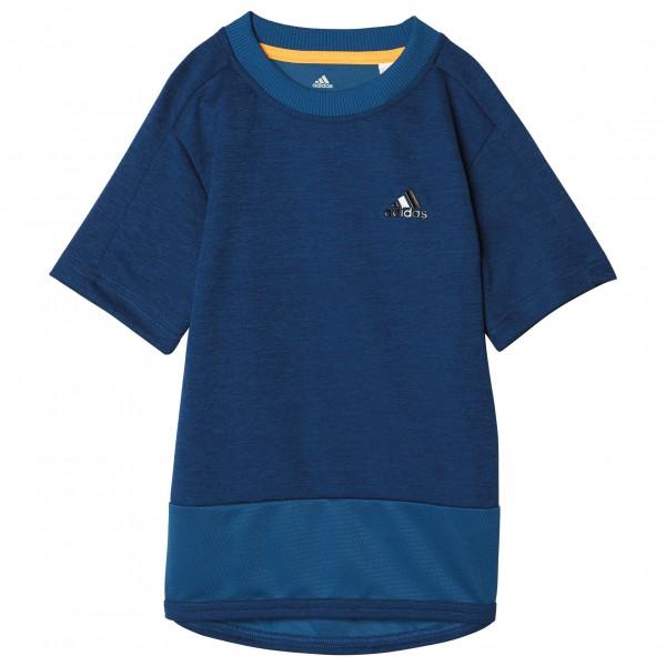 adidas Training Tee Sport-T-shirt maat 116 blauw- solar gold