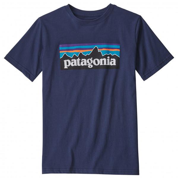 Patagonia - Kid's P-6 Logo Organic - T-Shirt Gr L blau 62153-NENA-L