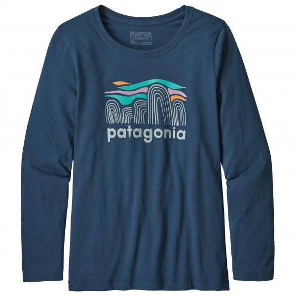 Patagonia L/S Graphic Organic - Outdoorshirt für Mädchen - Blau