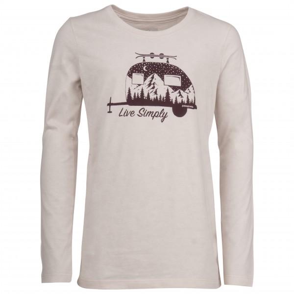 Patagonia - Girls´ L/S Graphic Organic T-Shirt - Longsleeve Gr XS grau