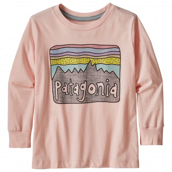 Patagonia - Kid´s L/S Graphic Organic T-Shirt - Longsleeve Gr 3T beige/grau