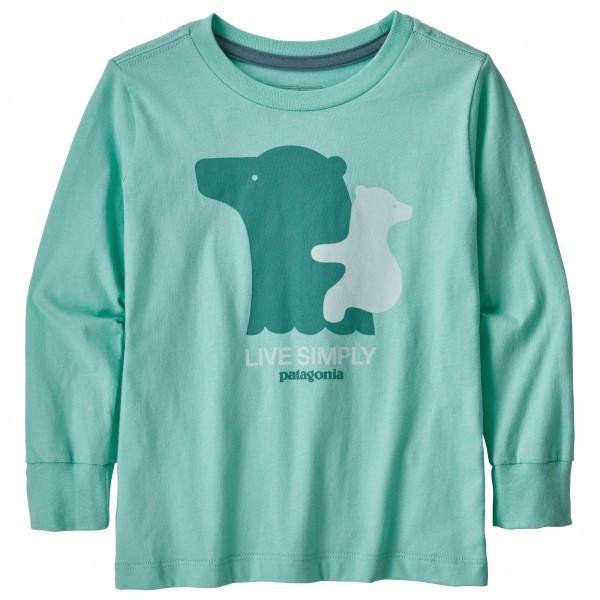 Patagonia - Kid´s L/S Graphic Organic T-Shirt - Longsleeve Gr 5T türkis