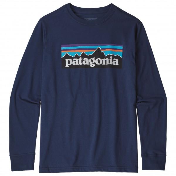 Patagonia L/S Graphic Organic - Outdoorshirt für Jungs - Blau