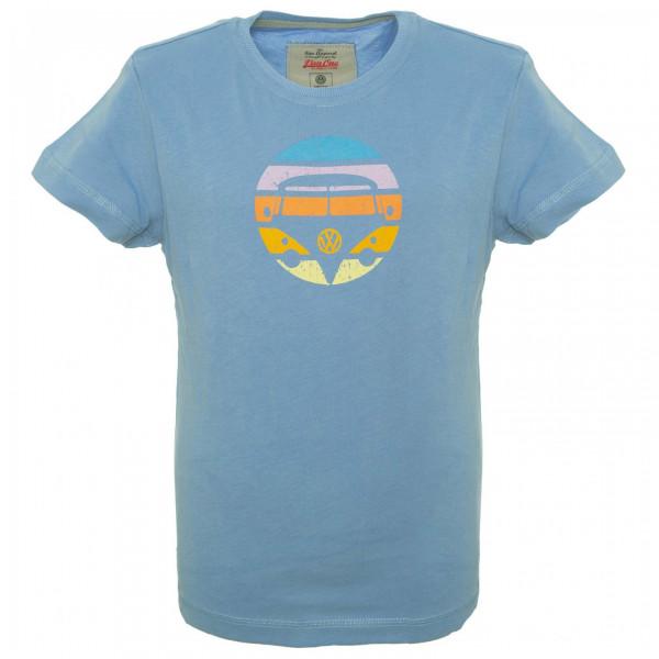 Van One - Bulli Face Retro Boys Shirt - T-Shirt Gr 146/152 blau/grau