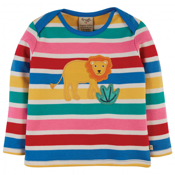 Frugi - Kids Bobby Applique Top - Longsleeve Size 2-3 Years  Blue/red
