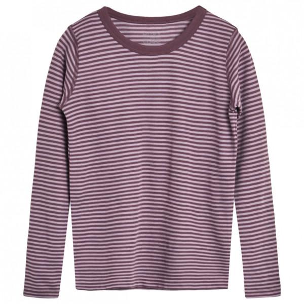 #Hust&Claire – Kid's Abba Stripes – Longsleeve Gr 104 grau/lila#