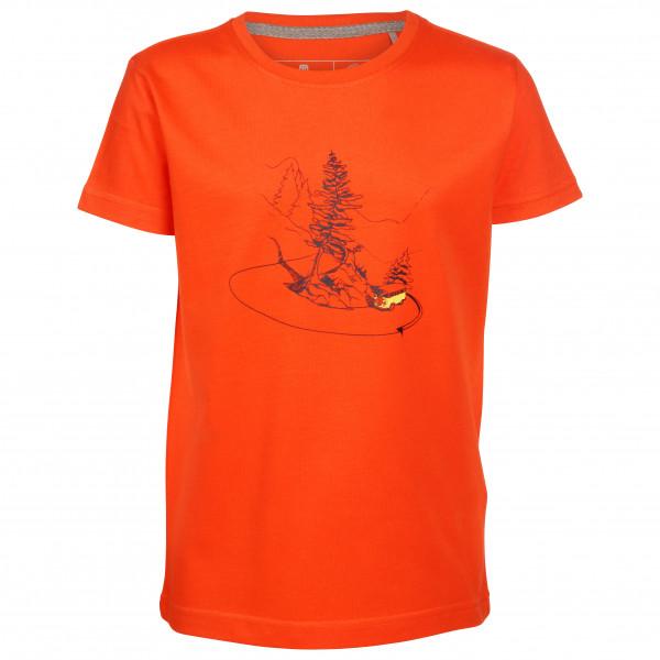 #Elkline – Kid's Curvybus – T-Shirt Gr 104/110 rot/orange#