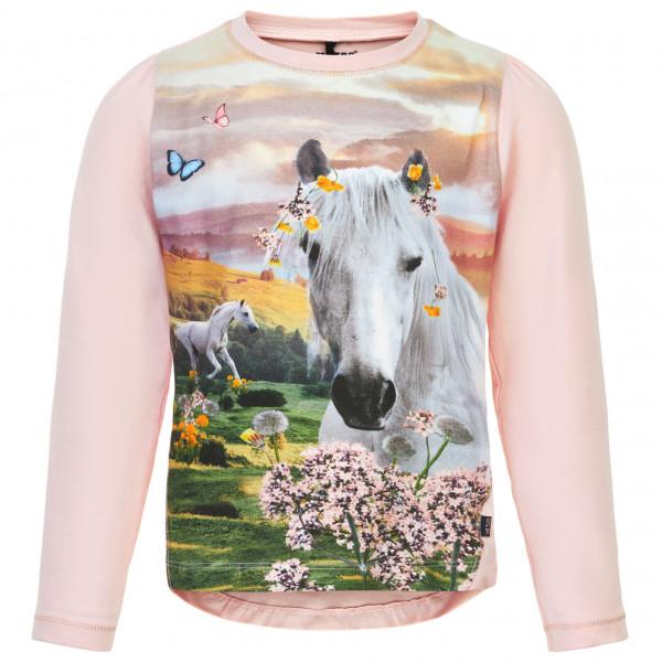 #ME TOO – Kid's T-Shirt L/S Unicorn – Longsleeve Gr 122 grau/weiß/beige#
