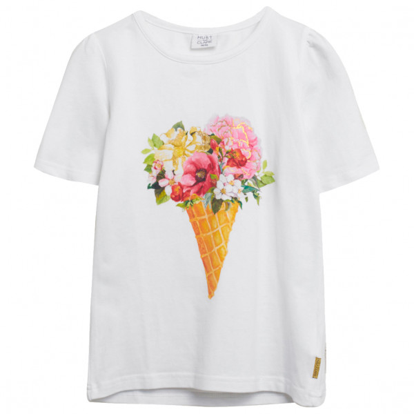 #Hust&Claire – Kid's Adane – T-Shirt Gr 122;128;134;140;146;152 grau/weiß#