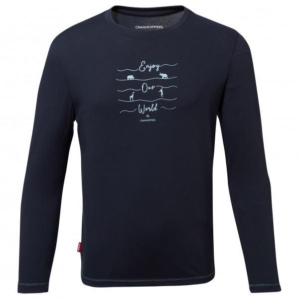 Craghoppers - Kids Nosilife Jago Long Sleeved T-shirt - Longsleeve Size 140  Black