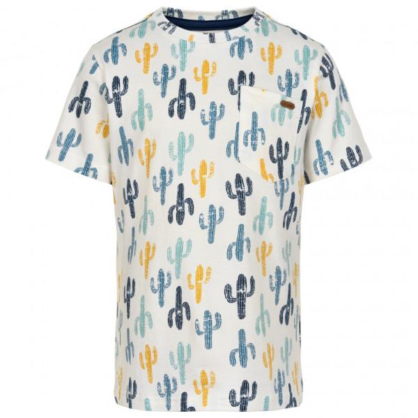 #Minymo – Kid's T-Shirt S/S Aop Boy II – T-Shirt Gr 140 grau/weiß#