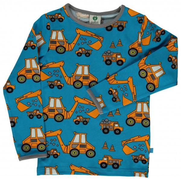 #Smafolk – Kid's T-Shirt with Machines – Longsleeve Gr 7-8 Years blau/türkis#