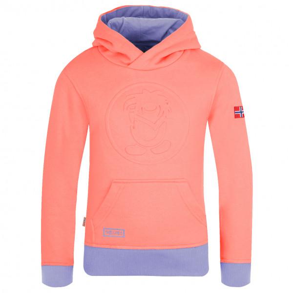 Trollkids - Kids Lillehammer Sweater - Hoodie Size 92  Sand/red