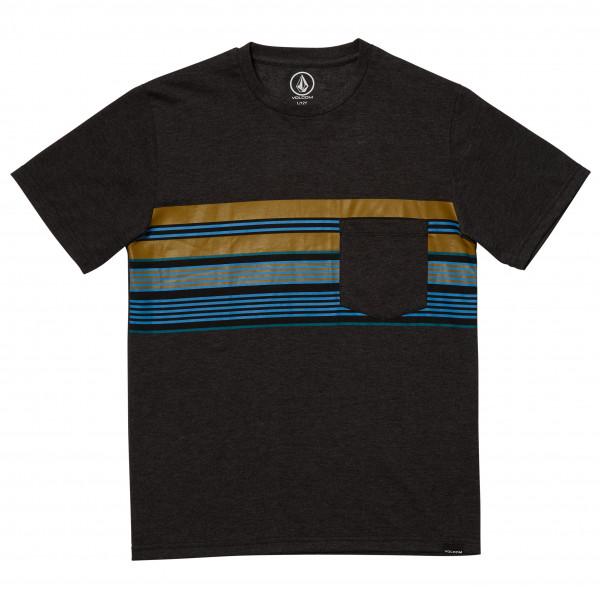 Volcom - Kids Line Stack Heather S/s - T-shirt Size Xl  Black