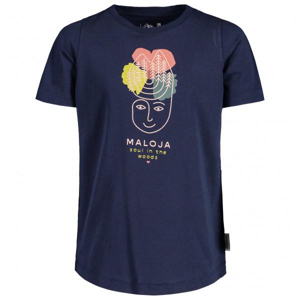 Maloja - Kids Larinag. - T-shirt Size L  Blue/black