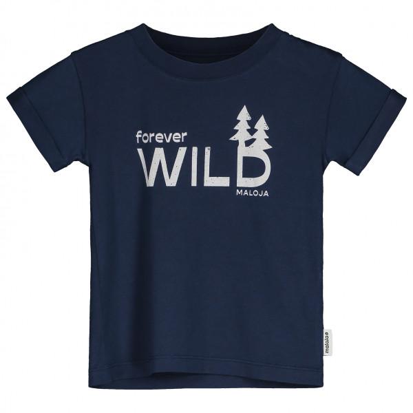 Maloja - Kids Stilafenu. - T-shirt Size 2 Years  Blue/black