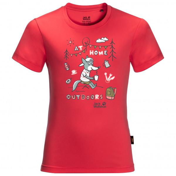 Jack Wolfskin - Kids Happy Camper T - Sport Shirt Size 176  Red/pink
