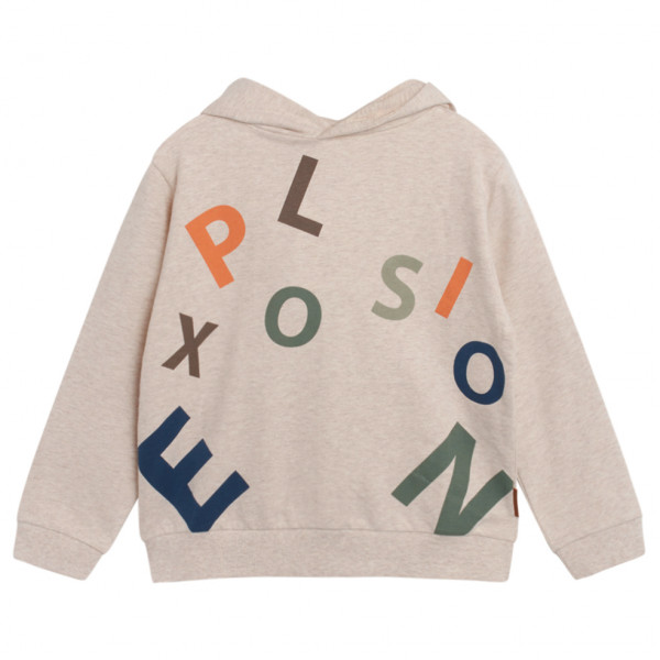 Hust&claire - Hust Kids Sakse Sweatshirt - Hoodie Size 128  Sand/grey/white