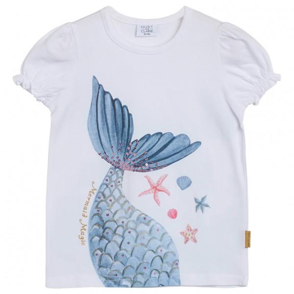 Hust&Claire - Kid's Claire Mini Ayla - T-Shirt Gr 104;110;116;62;68;74;80;92;98 grau 12227