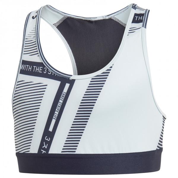 adidas Girl`s TR ASK Bra Reggiseno sportivo (128, grigio/nero/bianco)