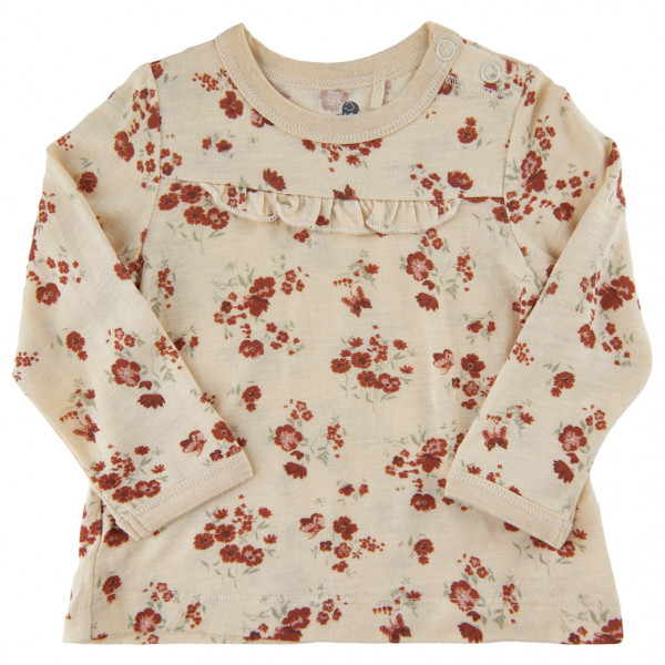 Celavi - Babys Blouse L/s All Over Print - Everyday Base Layer Size 110  Sand/white