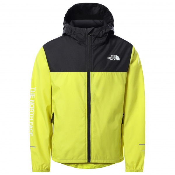 The North Face - Boys Reactor Wind Jacket - Windproof Jacket Size L  Yellow/black
