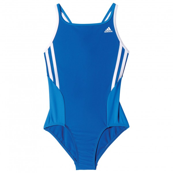 adidas Back To School Suit 3 Stripes Girls Badpak maat 104 blauw