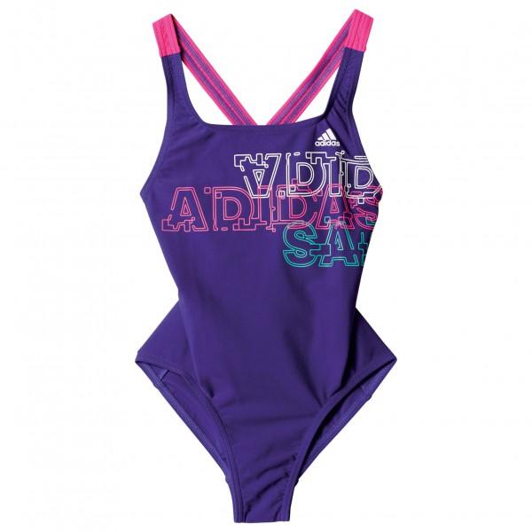 adidas - Girls Suit Lineage Youth - Badeanzug Gr 152 lila/rosa