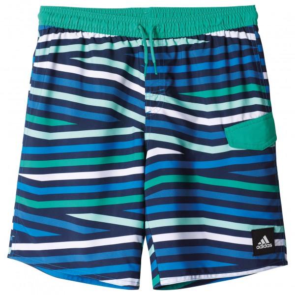 adidas Youth Boys Stripes Short Classic Length maat 176 blauw-turkoois